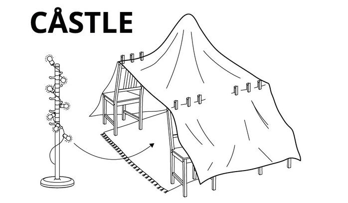 Ikea: Jak zbudować fort dla dziecka
