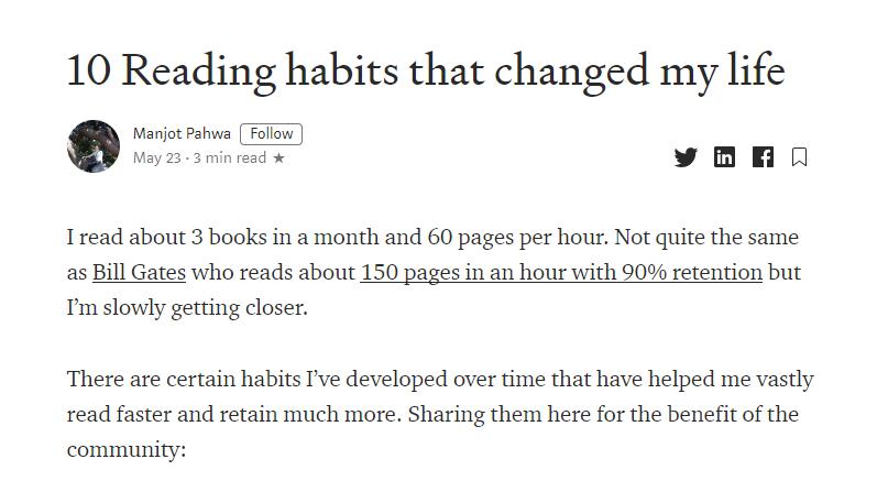 10 nawyków czytania, które robią różnicę