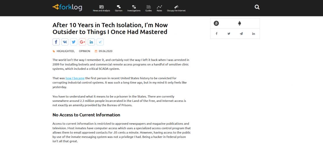 Życie po 10 latach izolacji w Tech