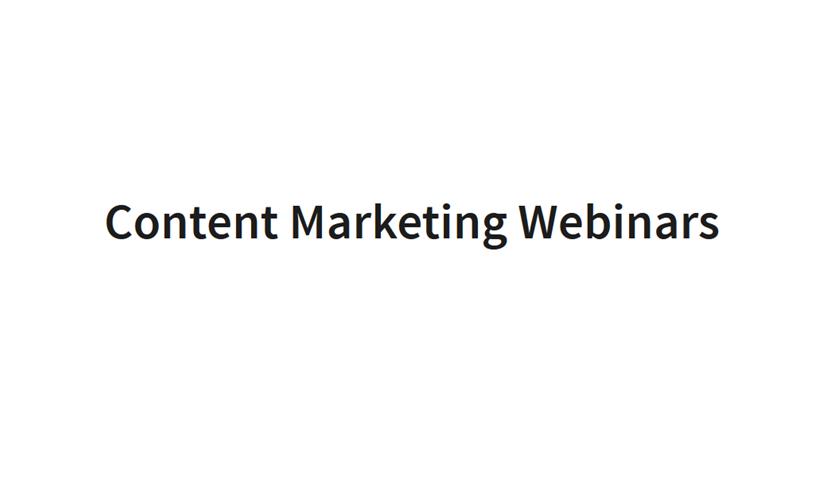 Webinary: Content Marketing