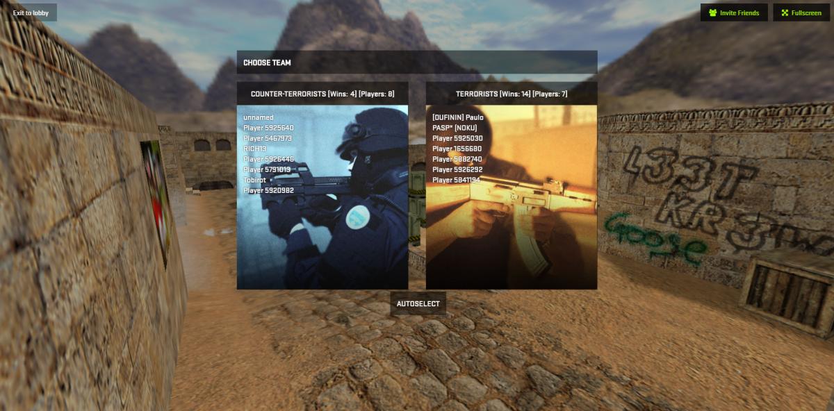 Counter Strike 1.6 w oknie przeglądarki!