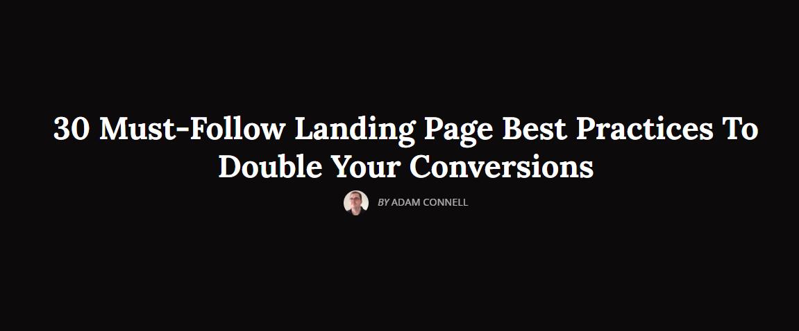30 trików, które podwoją liczbę konwersji z landing page