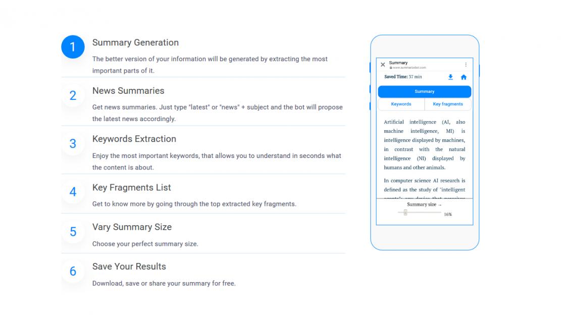 Summarizebot - streszczanie tekstów jednym kliknięciem